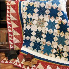 Celebrating Freedom - Red White and Blue Star Quilt Pattern by Lynn Lister - McCall's Quilting