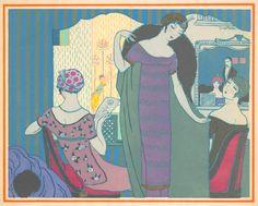 Catálogo de Paul Poiret para 1911 - Dibujos de Georges Lepape