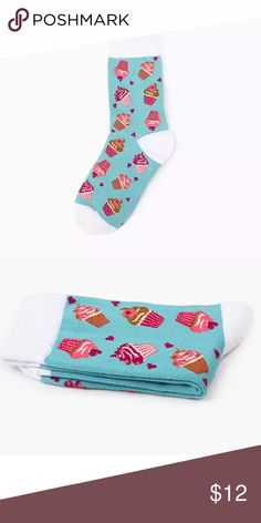 Cute Food Dessert Kawaii Socks Funny Cupcake 2/$14 Cute Food Dessert Colorful Socks Funny Cupcake  New  Kawaii Style Eat cake for breakfast, lunch, and dinner     H.O.P Accessories Hosiery & Socks