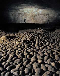 """The Moon Room has a most unusual floor. The dense clay has """"fossil"""" mud cracks that have survived all the activities of modern visitors to the cave. The whole deposit resembles a glacier, with upheaval domes and crevasses. Vacation Trips, Vacation Spots, Vacations, Camping, Backpacking, State Parks, Places To Travel, Places To See, Hiking In Georgia"""