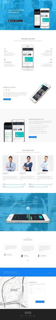 Exort is a Clean & Creative responsive multipurpose bootstrap #template, it is a perfect choice for any type of site like design agency, corporate, restaurant, personal, showcase, blog, magazine, #apps gallery, portfolio, eCommerce, product & etc