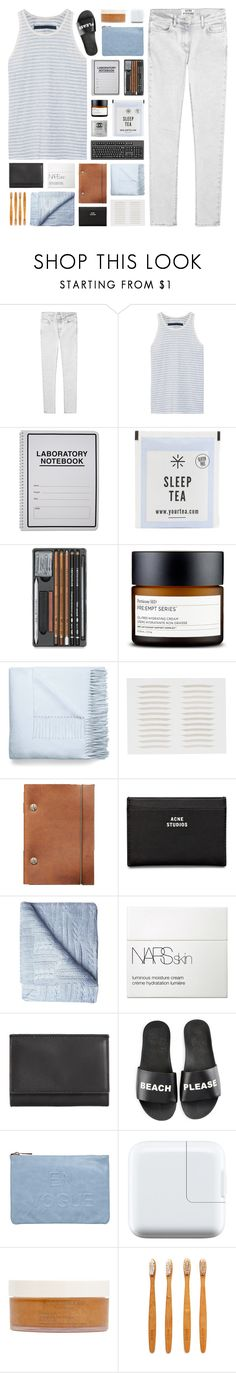 """- don't let the only real one intimidate you"" by p-ureness ❤ liked on Polyvore featuring Acne Studios, Enza Costa, Perricone MD, Scene Weaver, NARS Cosmetics, Maison Margiela, Schutz, Miss Selfridge, African Botanics and Izola"