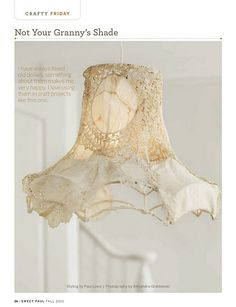 doily shade...must try this!