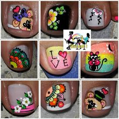 No photo description available. Toe Nail Art, Toe Nails, Toe Nail Designs, Instagram Posts, Crafts, Pedicure Ideas, Feet Nails, Nail Colors, Nail Design