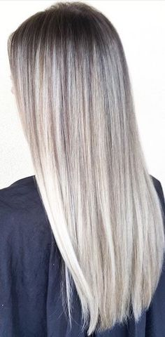 Icy rooted blonde balyage More