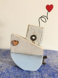 mothers day gift lovehearts cornish artdriftwood boat