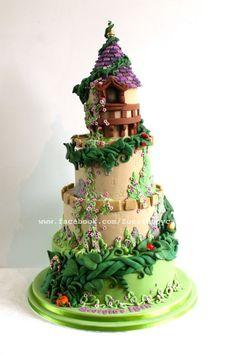 Torta de hadas castillo de cuento con habichuelas mágicas