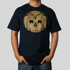 Classic Fit, 5.5oz 100% Cotton Men's T-Shirt in Navy About the Artist: With a degree in painting and a focus in screen-printing Jeremy's education and work experience has lead to a career as a fine ar