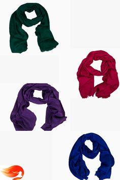 Fulares colores lisos. #fular #verde #azul #violeta #rojo.