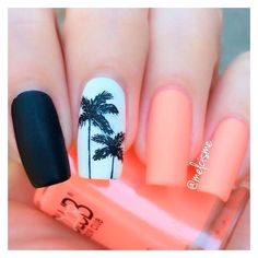 Cool Tropical Nails Designs for Summer ❤ liked on Polyvore featuring beauty products, nail care, nail treatments and nails