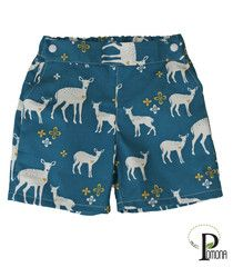 Project Pomona: pants and shorts made to fit over bulky cloth diapers.