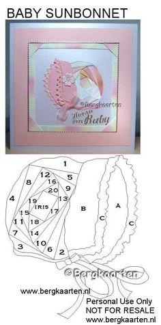 Irisvouwen: Baby sunbonnet Iris Folding