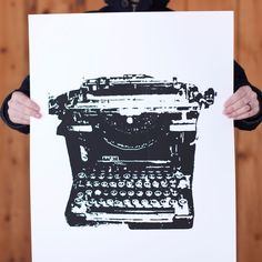 Typewriter Print (22x28) http://fab.com/sale/6471/kub2jv/?fref=sale-invite-tw