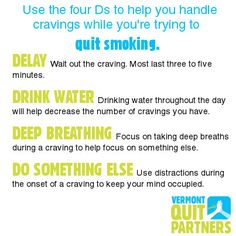 The 4 D's can help you quit #smoking!