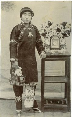 Chinese Woman with bound feet 1890