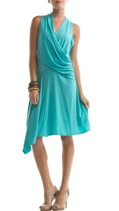 Pisces Dress, Blue Turquoise by Eco Skin.  Wondering if I can get a similar look with my wrap dress..