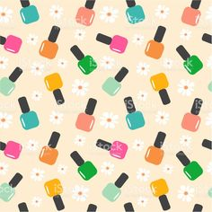 Illustration about Spring summer nail polish color seamless vector pattern background illustration. Illustration of pattern, glamour, glass - 61909600 Vintage Flowers Wallpaper, Cute Patterns Wallpaper, Cute Wallpaper Backgrounds, Pretty Wallpapers, Colorful Wallpaper, Flower Wallpaper, Background Patterns, Summer Nail Polish, Nail Polish Colors