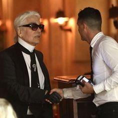 Karl Lagerfeld and Sebastien Jondeau seen leaving the Senequier in Saint-Tropez (347020)