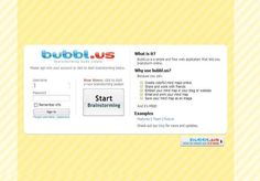 bubbl.us.   read a description of an online tool allowing students to work independently or collaborately brainstorming mind maps. Think of ways this tool could be used with the SuperCroc exhibit.