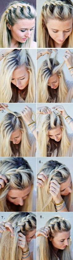 Half-Up Side French Braid | 18 Easy Fall Hairstyles for Medium Hair that are oh so trendy!