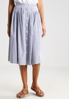 Louche TANISH STRIPE - A-Linien-Rock - blue/white - Zalando.de