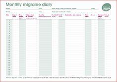 National Migraine Centre – Migraine and Headache Diary