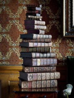 Sometimes I stack my books like that and smile. Old Books, Antique Books, Vintage Books, Albus Dumbledore, I Love Books, Books To Read, World Of Books, Library Books, Bibliophile