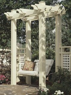 Arbor Woodworking Plan, Outdoor Furniture Project Plan | WOOD Store Plans $3.00