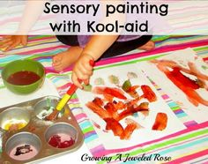 Sensory Painting with Kool-aid!
