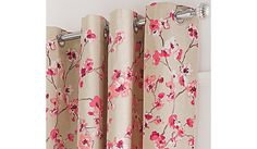 Buy George Home Pink Floral Curtains with Contrast Edge from our Curtains range…