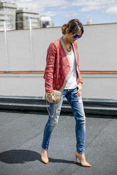 Love the pink jacket.