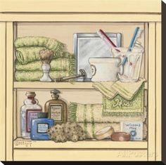 His Bathroom Shelf Stretched Canvas Print