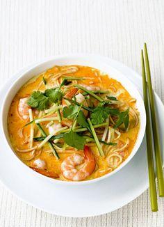 Prawn laksa (spicy noodle soup)