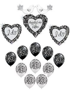 havent decided Adalyns bday theme yet but these are a possibilty Black White Parties, Bridal Shower Balloons, Bird Party, Black And White Love, Number Balloons, Latex Balloons, The Balloon, Wedding Colors, Wedding Ideas