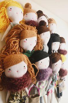 handmade cloth dolls by ploudoll on etsy  ploudoll.esty.com #clothdolls #ragdoll #clothdoll #muñecadetela #muñecadetrapo