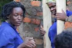 """Female engineer, a role model, empowers other Ugandan women. """"There were two unusual things about the graduation of the 2012 Civil Engineering class at St Joseph's Technical Institute in Kisubi, Uganda. One was the fact that there was a woman in the group, the other was that she was graduating with top marks in her class."""""""
