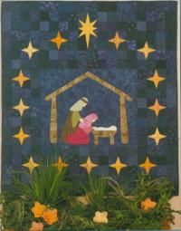 Christmas Angel Quilt Pattern | nativity quilt pattern easily piece stars on paper foundations quilt ...