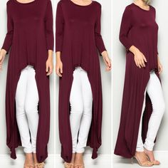 Goddess Hestia Tunic.  $65 Crew neck. High-Low. 3/4 sleeves. Grecian draping sides. 95% Rayon 5% Spandex. Color: Garnet Specify Size: S M L    FREE SHIPPING | Shop this product here: http://spreesy.com/blacqskirt/54 | Shop all of our products at http://spreesy.com/blacqskirt    | Pinterest selling powered by Spreesy.com