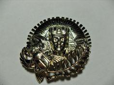 Art Deco Egyptian Revival brooch brass by GingersLittleGems