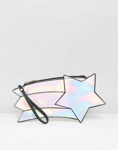 Clutch con estrella holográfica de Daisy Street