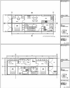 Blueprints for shipping container home
