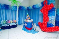 festa fundo do mar com baloes - Pesquisa Google