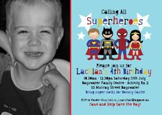 superhero save the date invitations   Welcome Cards, Baby Cards, Party Invitations, Personalised invitations ...
