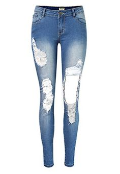 New Trending Denim: Women's Plus-Size Low Waist Ripped Hole Washed Distressed Jeans 40(Tag). Special Offer: $28.99 amazon.com Echoine Women's Juniors Low Rise Distressed Skinny Jeans High quality! PLEASE CONFIRM Sold by Mycherish. 1. Unique seamless details will enhance the stomach,hip,bottom and abdomen area.It's comfortable to wear and enhances all your shapes and...