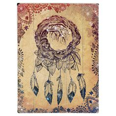 The perfect complement to your eclectic living room scheme, this wooden wall art features a charming dream catcher design. Team with carved woods, rich hues ...