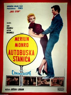BUS STOP 1956  MARILYN MONROE DON MURRAY MEGA RARE EXYU MOVIE POSTER