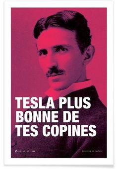 Tesla en Tirage d'art premium