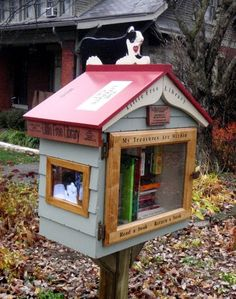 Little Free Library - Want in front of my home. Since I don`t have a mailbox in front.