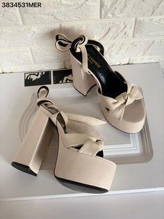 Saint Laurent Shoes, Ysl, Leather Sandals, Off White, Platform, Heels, Women, Fashion, Heel