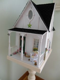 My shabby 1:12 house.  One of my favorite mini places. ~mandy wayman
